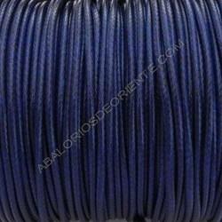 Algodón encerado brillante 2 mm azul marino