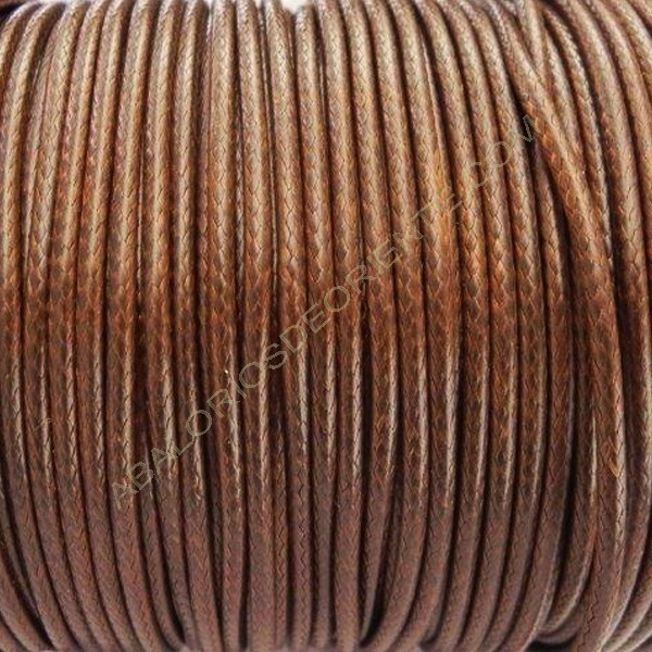 Algodón encerado brillante 2 mm marrón