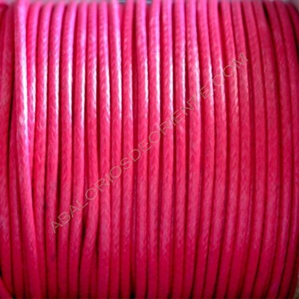 Algodón encerado brillante 2 mm rosa chicle