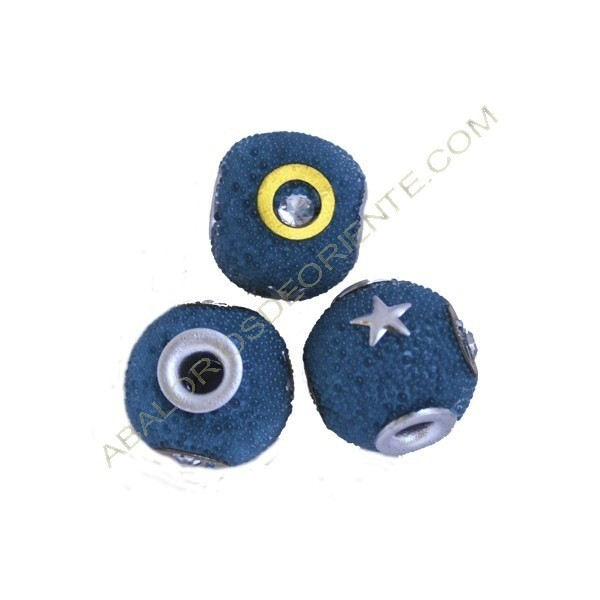 Bola de Indonesia azul con incrustaciones