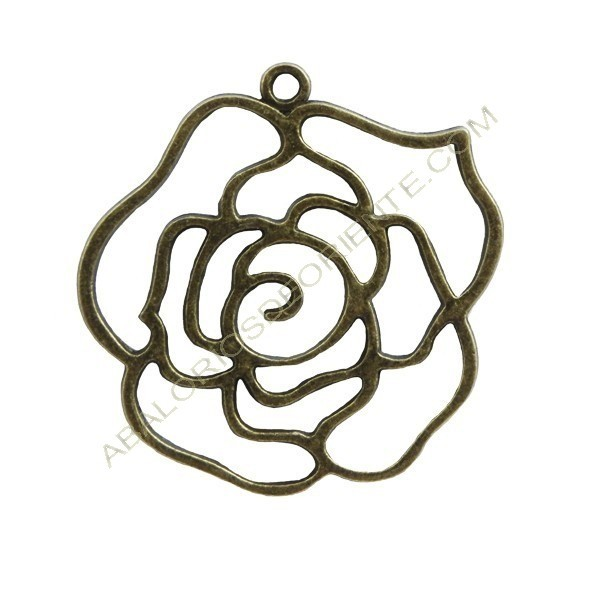 Colgante flor bronce