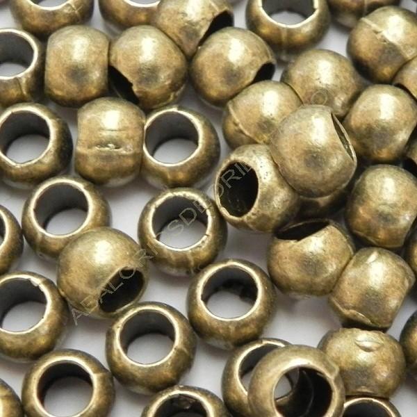 Entrepieza tonel bronce de 6 x 4 mm