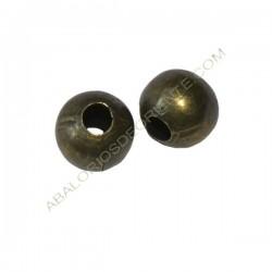 Entrepieza bola hueca achatada 7 x 8 mm bronce