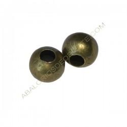 Entrepieza bola hueca achatada 9 x 10 mm bronce