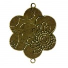 Flor conectora bronce grande