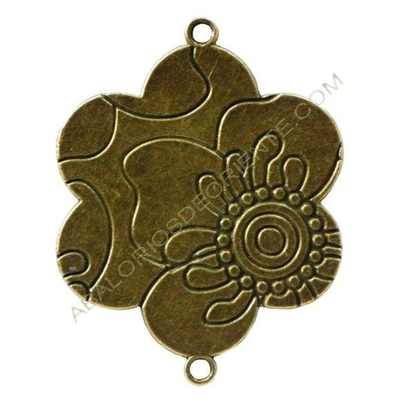 Flor conectora bronce