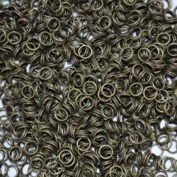 Bolsa de argollas abiertas dobles de 5 mm color bronce