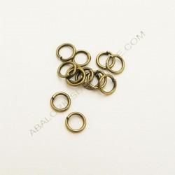 Bolsa de argollas abiertas simples de 5 mm color bronce