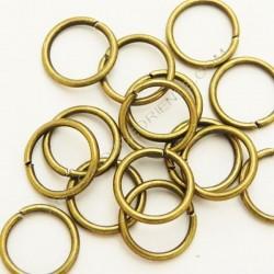 Bolsa de argollas abiertas simples de 8 mm bronce