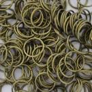 Bolsa de argollas abiertas simples de 12 mm color bronce