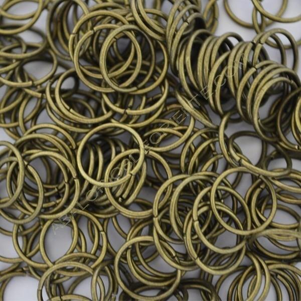 Argolla abierta simple de 12 mm bronce