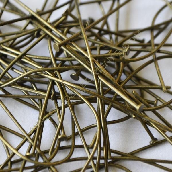 Bolsa de 10 bastones para pendiente 50 x 0,7 mm color bronce