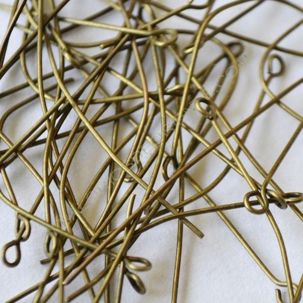 Bolsa de bastones para pendientes con argolla 50 x 0,7 mm color bronce