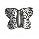 Cierre magnético mariposa plateado