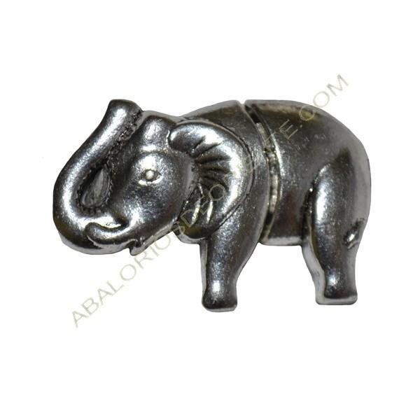 Cierre magnético elefante plata