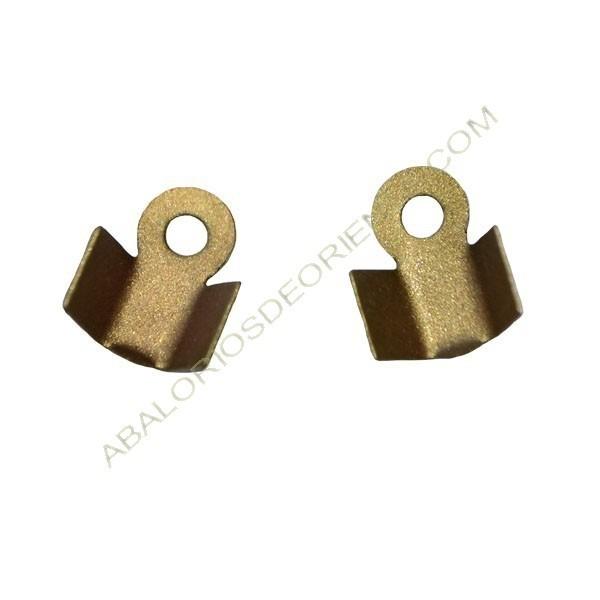 Bolsa de terminales de hierro 9 x 4 mm bronce