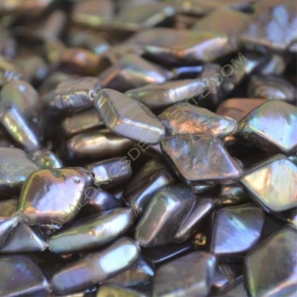 Perla cultivada rombo negra