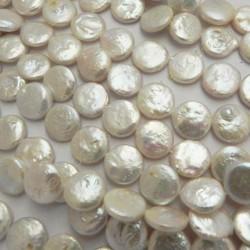 Perla cultivada moneda blanca