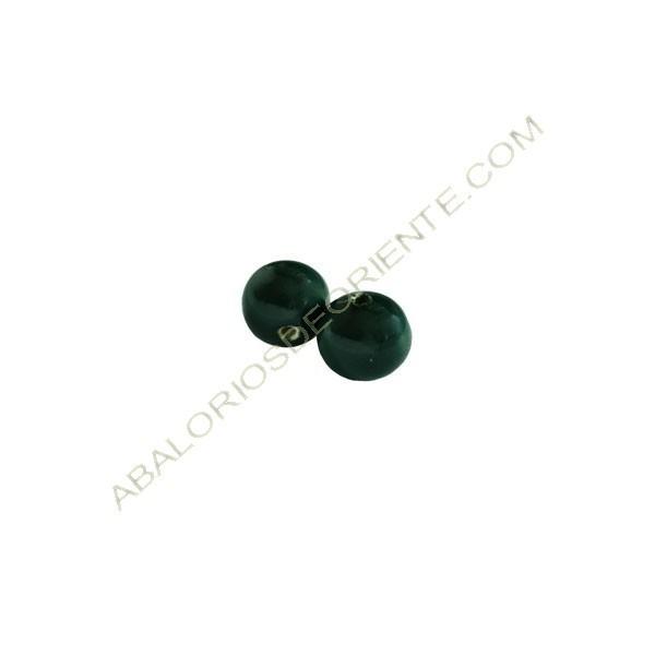 Cuenta de porcelana redonda 8 mm verde