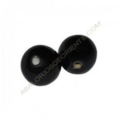 Cuenta de porcelana redonda 12 mm negra
