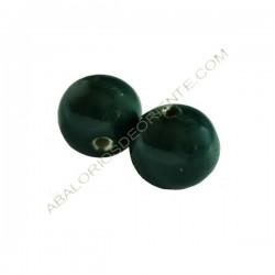 Cuenta de porcelana redonda 12 mm verde