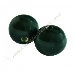 Cuenta de porcelana redonda 16 mm verde