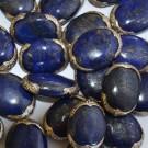 Cuenta lapislázulis oval