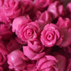Flor resina rosa