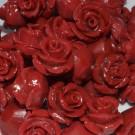 Flor resina roja 8 x 8 mm
