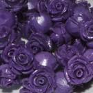 Flor resina morada 8 x 8 mm