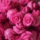 Flor resina rosa 8 x 8 mm