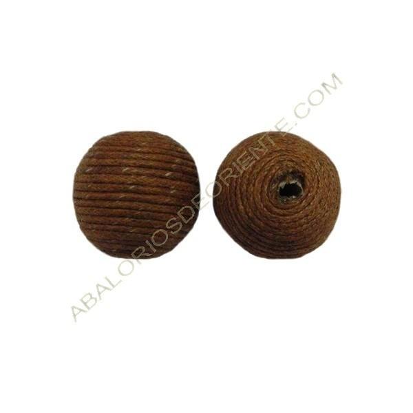 Cuentas de hilo de algodón encerado marrón