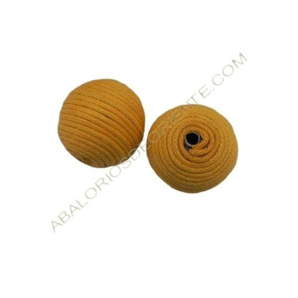 Cuentas de hilo de algodón encerado amarilla