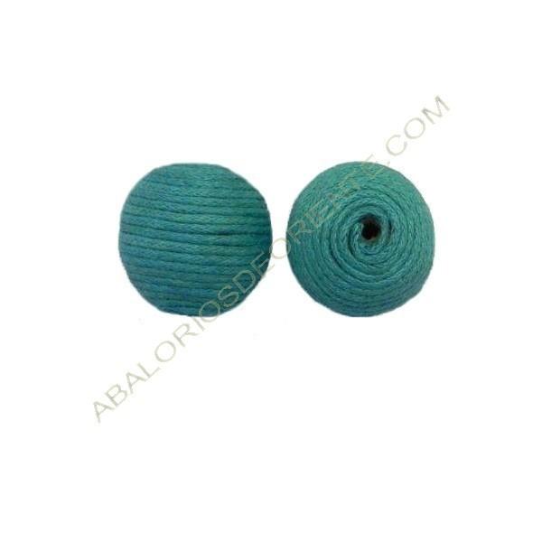 Cuentas de hilo de algodón encerado azul