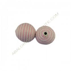 Cuentas de hilo de algodón encerado rosa y blanca
