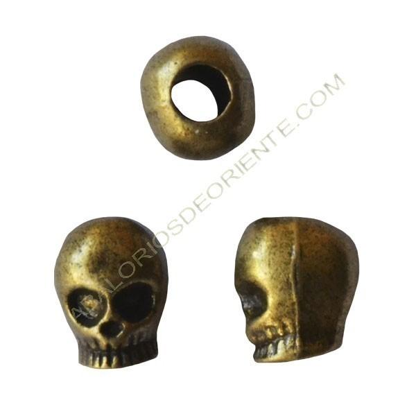 Entrepieza calavera 12 x 10 mm bronce