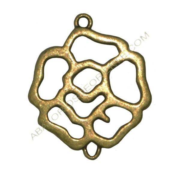 Flor conectora bronce pequeña