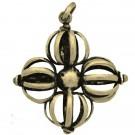 Colgante cruz Dorje grande bronce