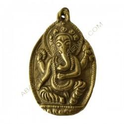 Colgante bronce tibetano de la deidad Ganesha