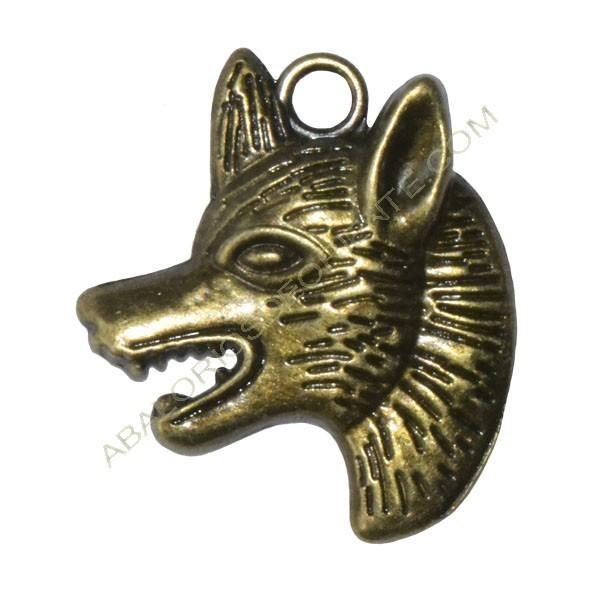 Colgante lobo bronce