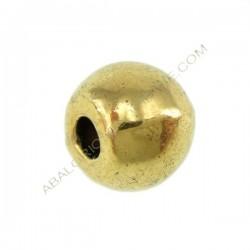 Entrepieza de metal bola lisa 6 x 4,5 mm dorada