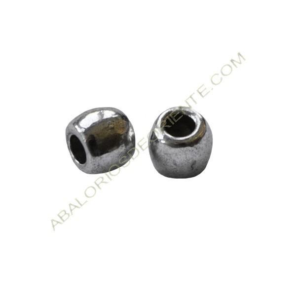 Entrepieza de aleación de Zinc tonel 6 x 5 mm