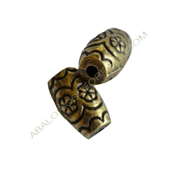 Entrepieza de Zamak cilindro bronce