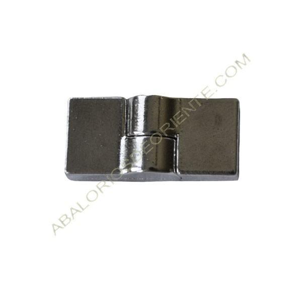 Cierre de aleación de Zinc magnético bisagra plateado