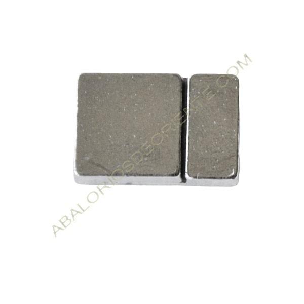 Cierre magnético de aleación de Zinc rectangular plata liso