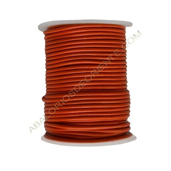 Cuero 2 mm Naranja Butano 131