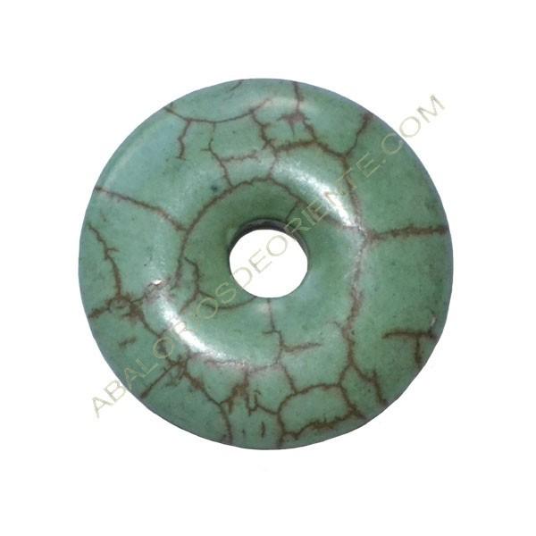 Donut de piedra imitación turquesa