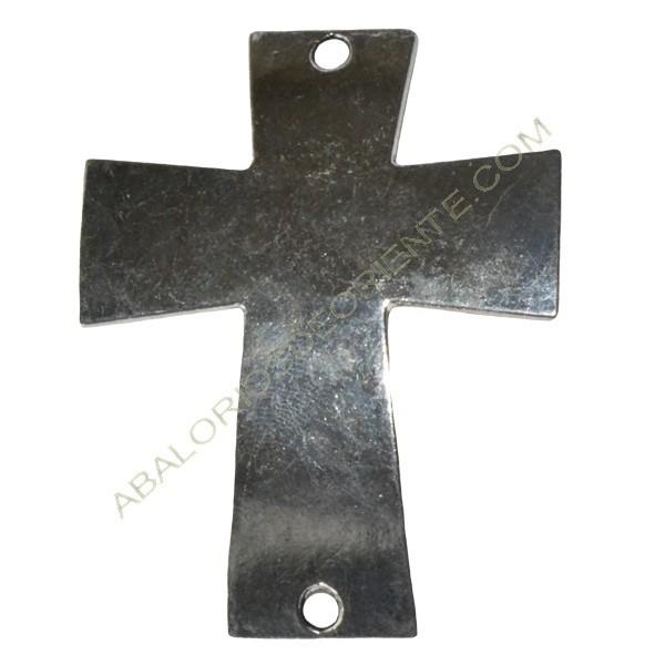 Cruz conectora para pulseras plata