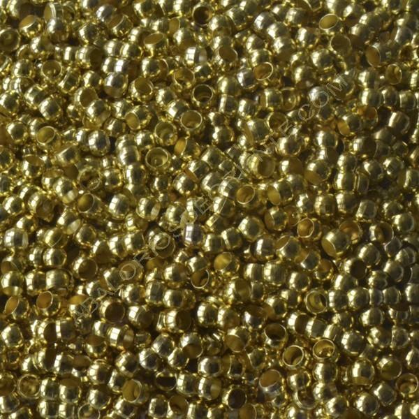 Chafa de metal color dorado 2,5 mm