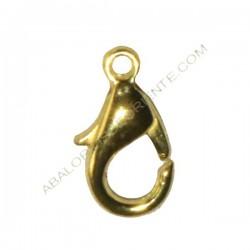 Mosquetón de aleación de Zinc dorado 12 mm
